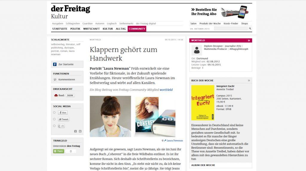 Porträt auf Freitag.de