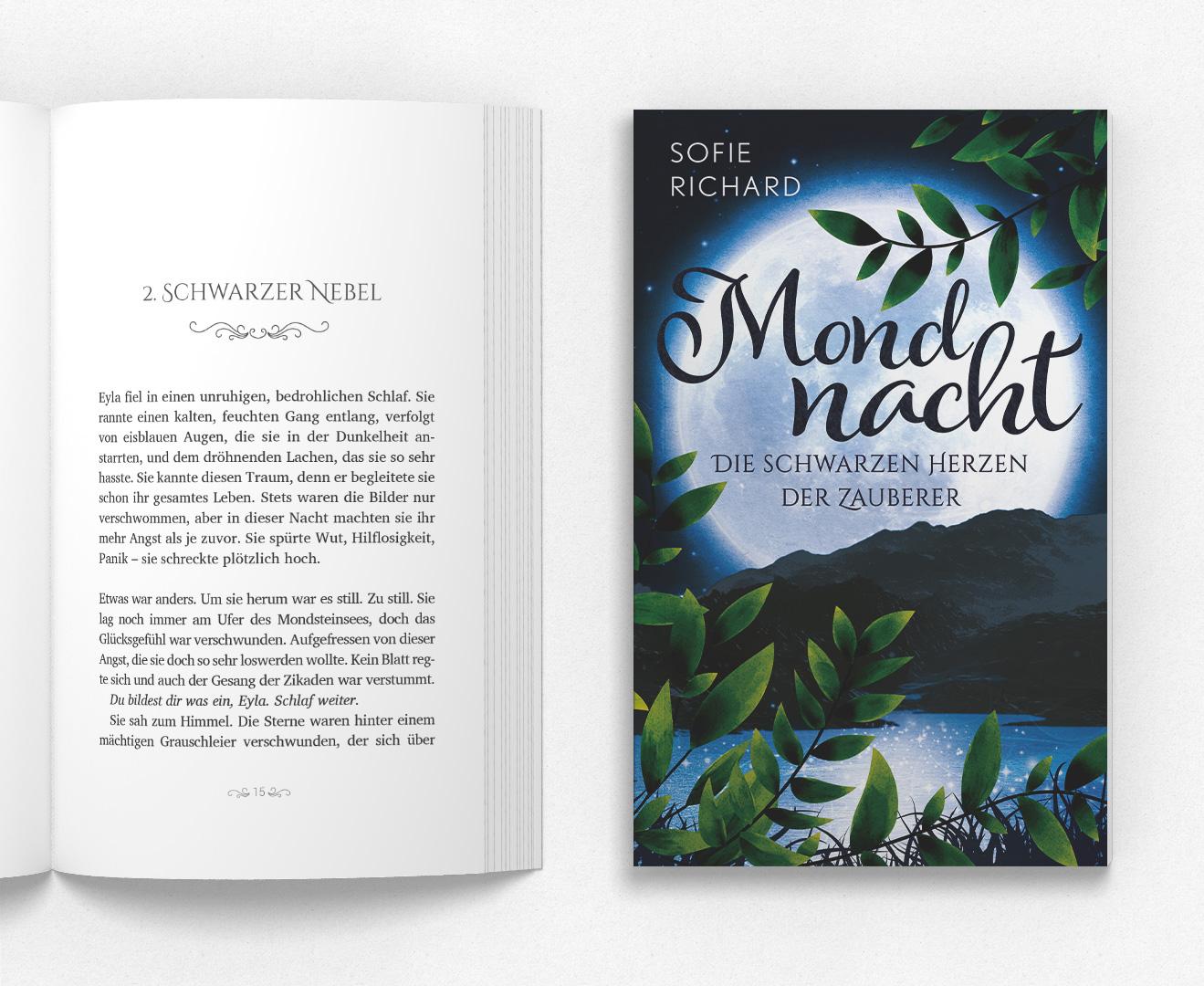 Mondnacht – Die schwarzen Herzen der Zauberer Buchsatz