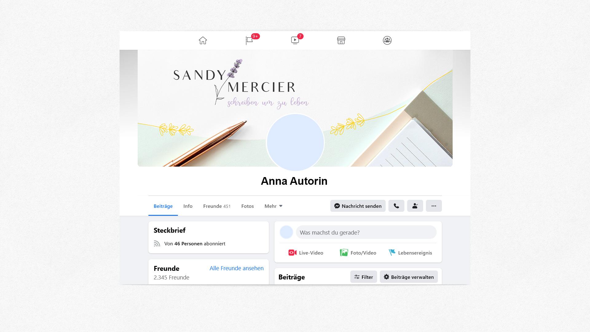 facebook Banner Sandy Mercier